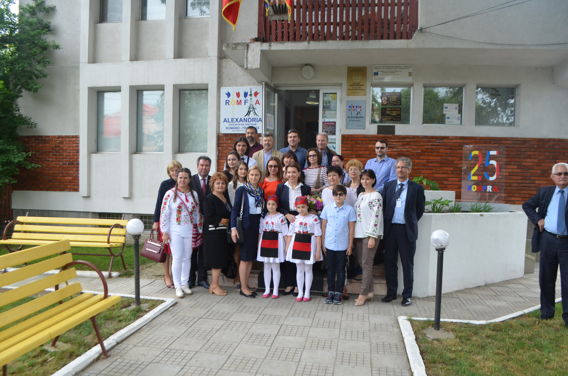 Excelența Sa, Doamna Michèle Ramis, Ambasadoarea Franței în România, în vizită la ROMFRA